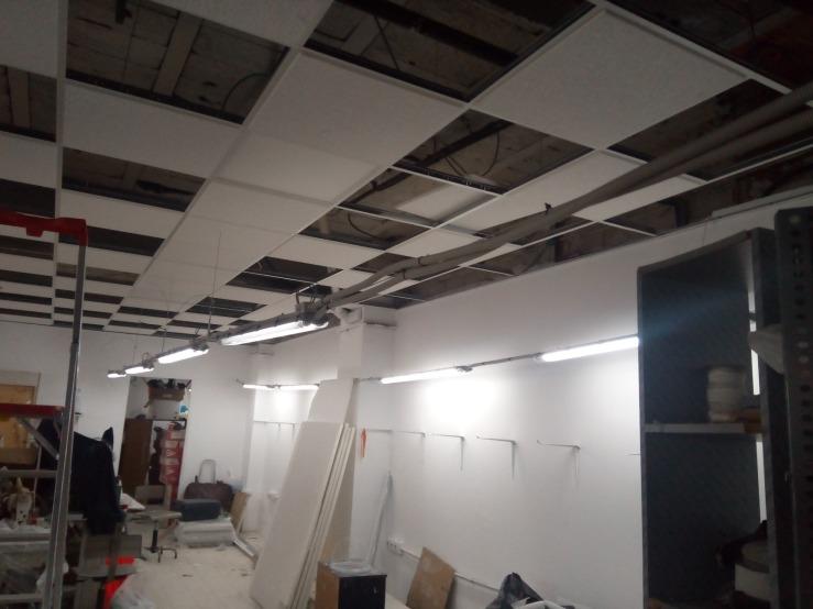 techo e instalación eléctrica taller textil 2
