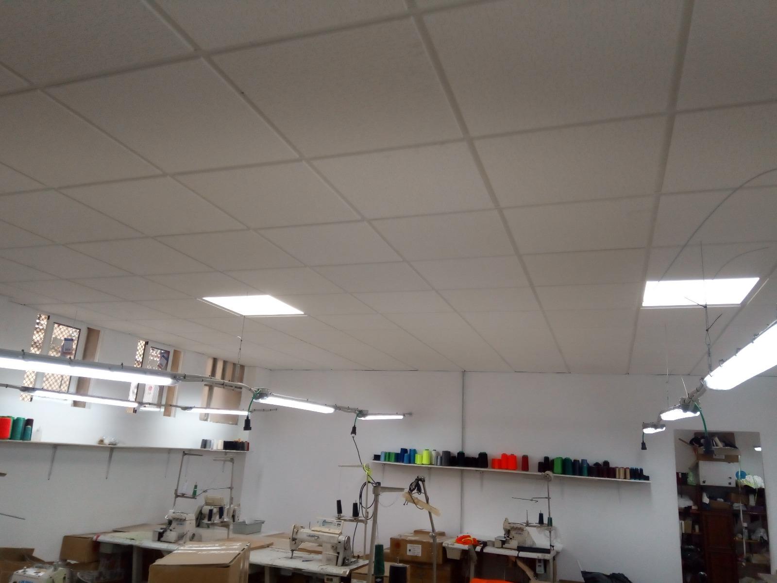 techo e instalación eléctrica taller textil 3