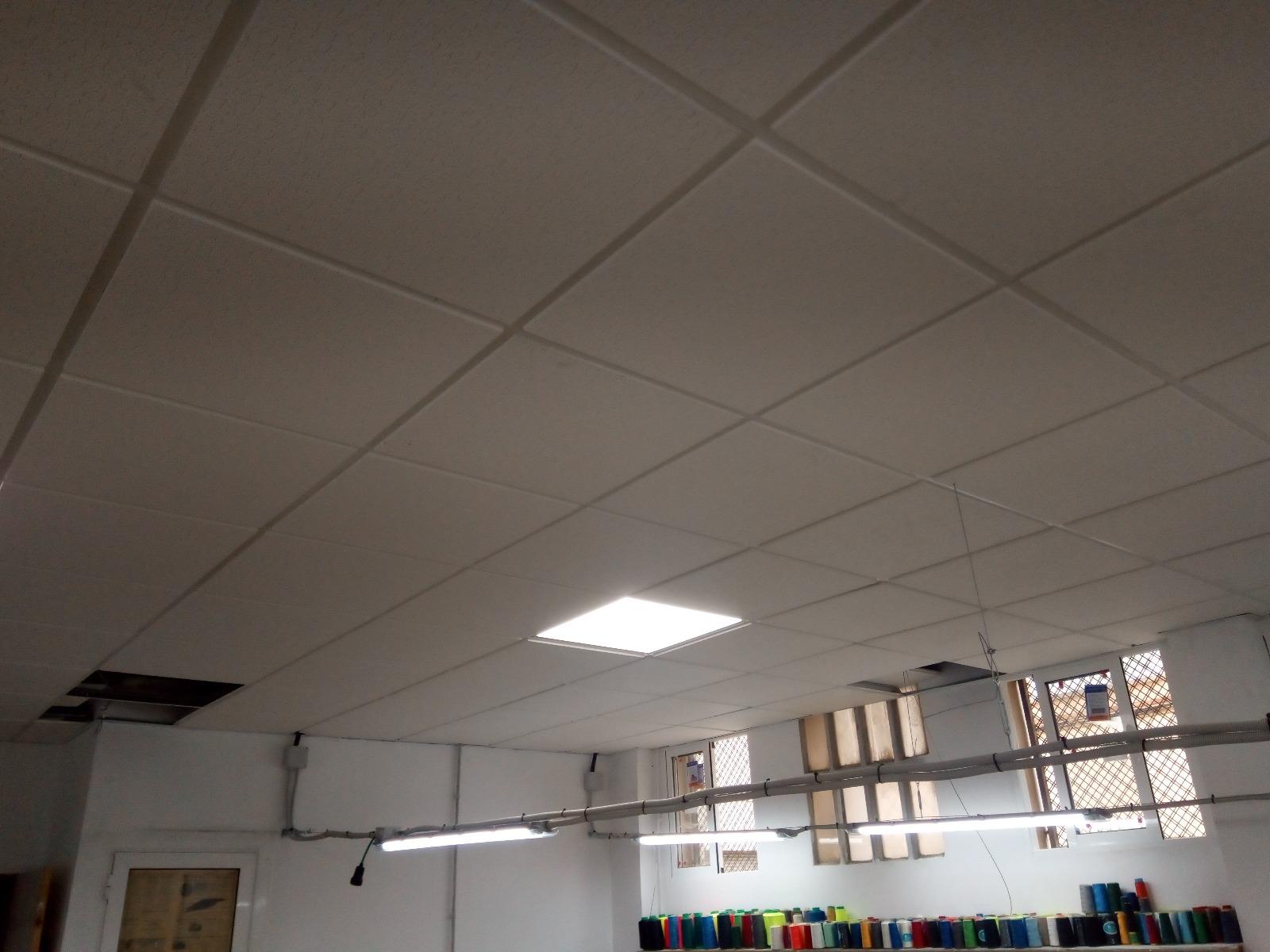 techo e instalación eléctrica taller textil 4